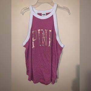 Pink Tank Top w/ Sequins